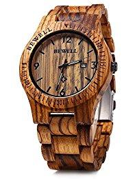 orologi in legno bewell