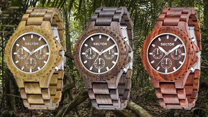 orologi Sector in legno