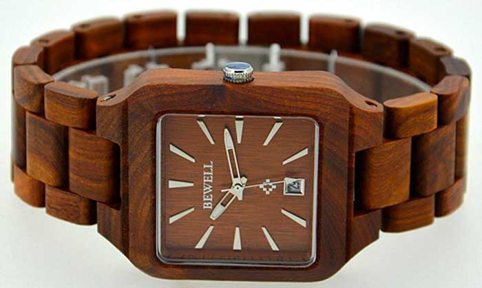 Bewell orologio di legno