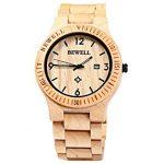 BeWell ZS W086B – orologio da polso in legno di Bamboo