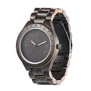 orologio legno uwood uw1001 black