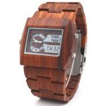 Orologio in Legno Uwood Red Sandalo – doppio display a Led