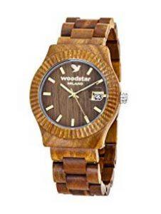 Orologio in legno sandalo verde - Woodstar Secoya