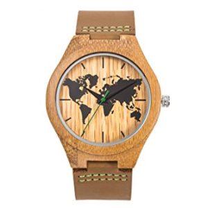 orologio legno UW1010Map Bamboo